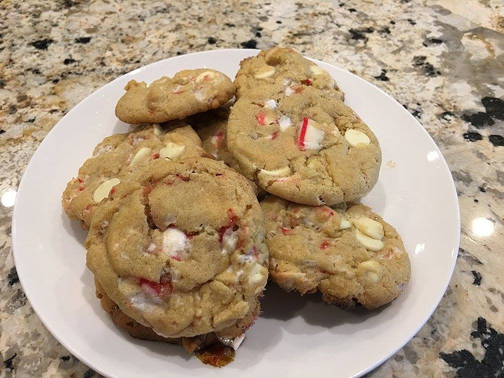 Peppermint White Chocolate Cookies!