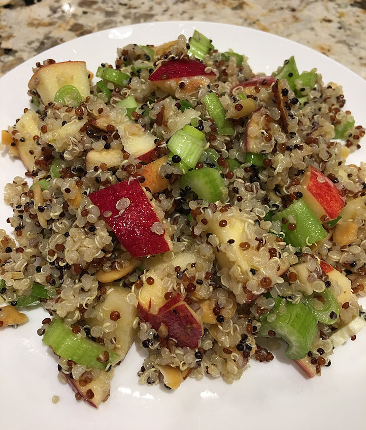 Apple Quinoa Salad. We are making a conscious effort to eat more vegetarian meals